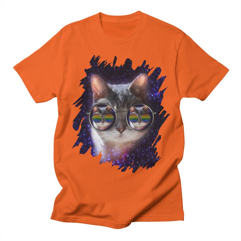 Funny COOL KITTY CAT - Rainbow Sun Glasses Women's Unisex T-Shirt by EDDArts Shop