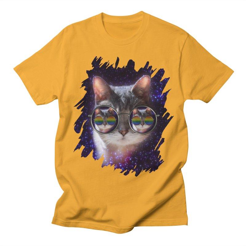 Funny COOL KITTY CAT - Rainbow Sun Glasses Women's T-Shirt by EDDArts Shop