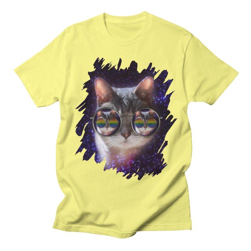 Funny COOL KITTY CAT - Rainbow Sun Glasses Women's Unisex T-Shirt by EDDArts Shop