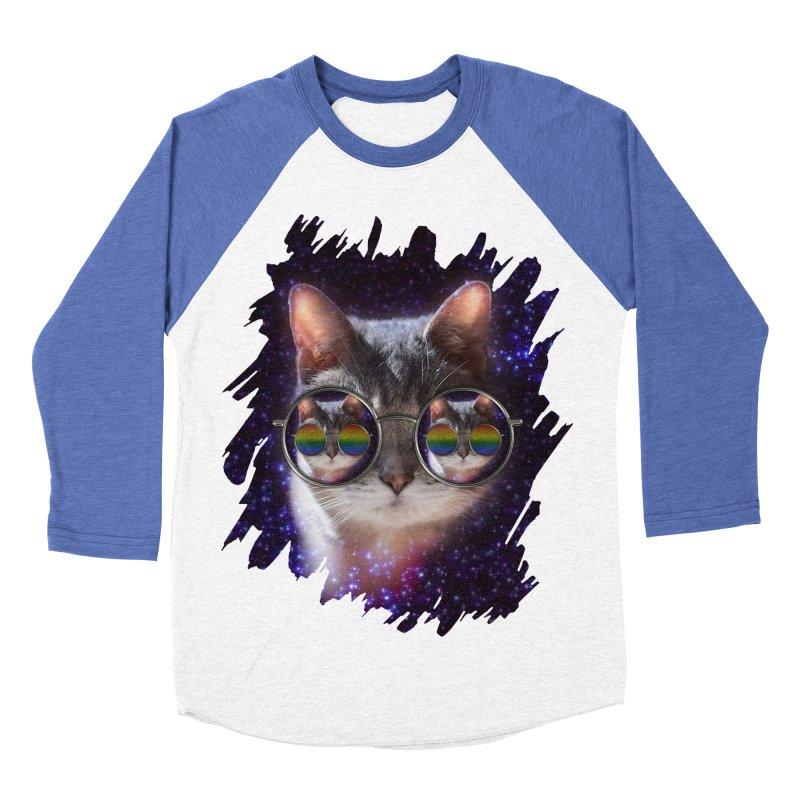 Funny COOL KITTY CAT - Rainbow Sun Glasses Women's Baseball Triblend Longsleeve T-Shirt by EDDArts Shop