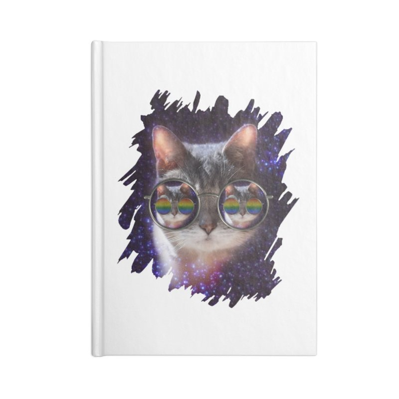 Funny COOL KITTY CAT - Rainbow Sun Glasses Accessories  by EDDArts Shop