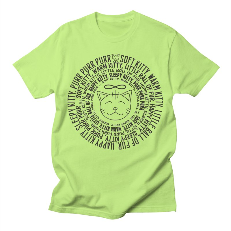 Theoretical Physics Nerd - Soft Kitty Song - black Men's T-Shirt by EDDArts Shop
