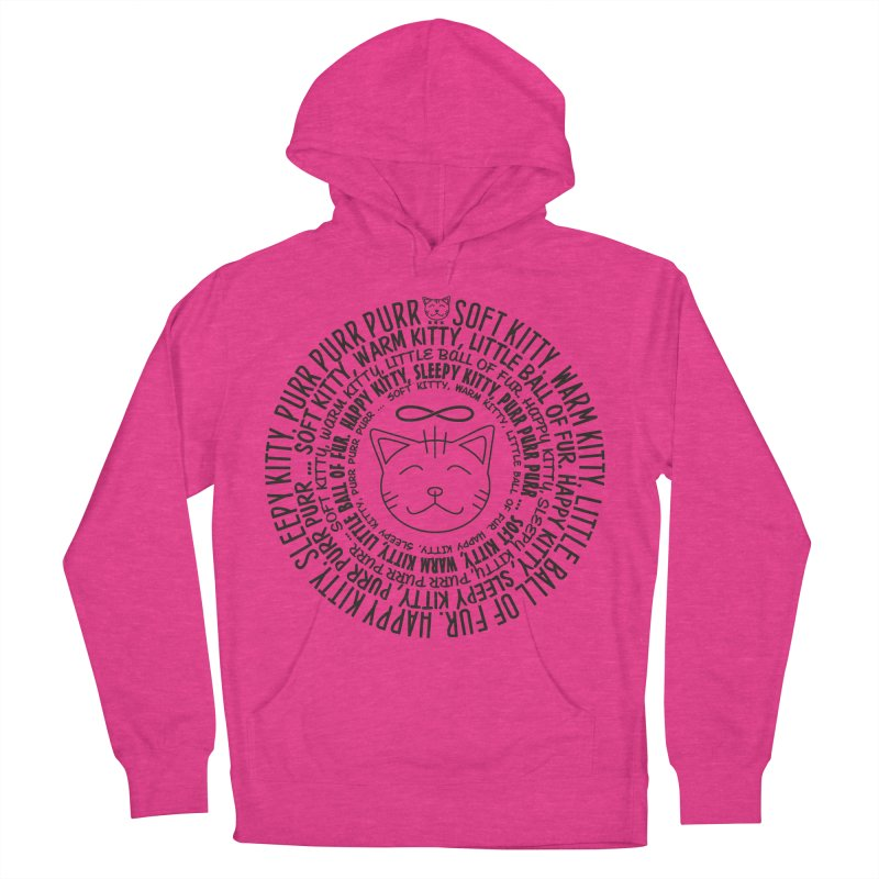 Theoretical Physics Nerd - Soft Kitty Song - black Women's French Terry Pullover Hoody by EDDArts Shop
