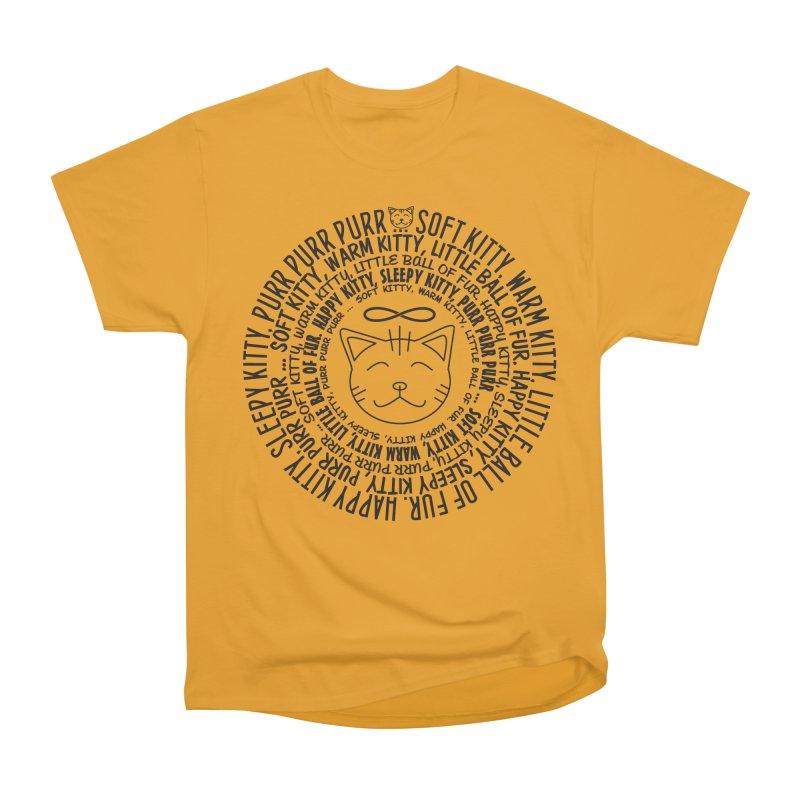 Theoretical Physics Nerd - Soft Kitty Song - black Men's Heavyweight T-Shirt by EDDArts Shop