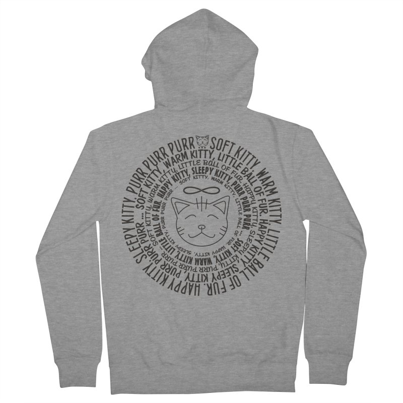 Theoretical Physics Nerd - Soft Kitty Song - black Men's French Terry Zip-Up Hoody by EDDArts Shop