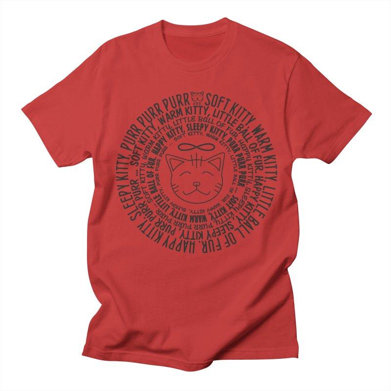 Theoretical Physics Nerd - Soft Kitty Song - black Men's Regular T-Shirt by EDDArts Shop
