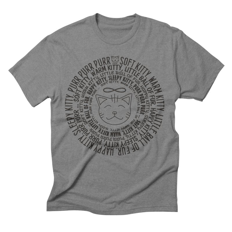 Theoretical Physics Nerd - Soft Kitty Song - black Men's Triblend T-Shirt by EDDArts Shop