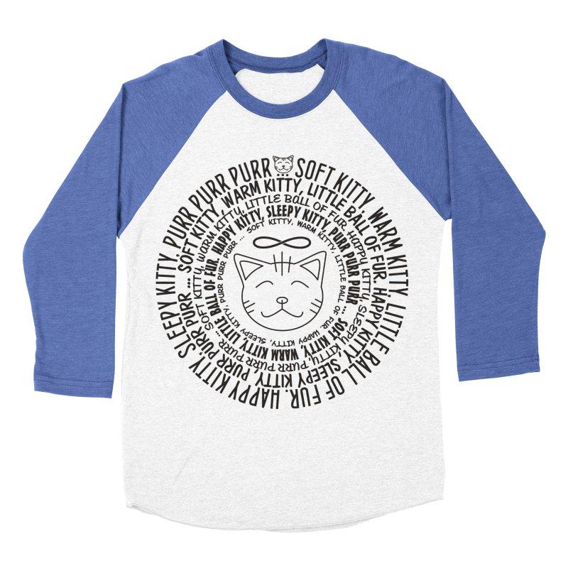 Theoretical Physics Nerd - Soft Kitty Song - black Women's Baseball Triblend Longsleeve T-Shirt by EDDArts Shop