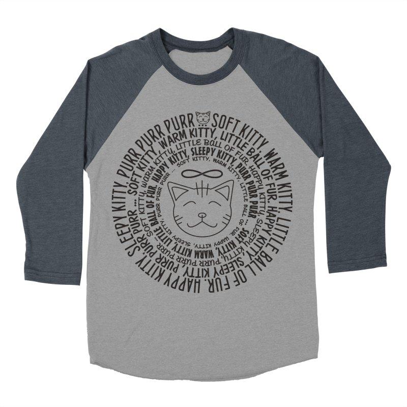 Theoretical Physics Nerd - Soft Kitty Song - black Men's Baseball Triblend T-Shirt by EDDArts Shop
