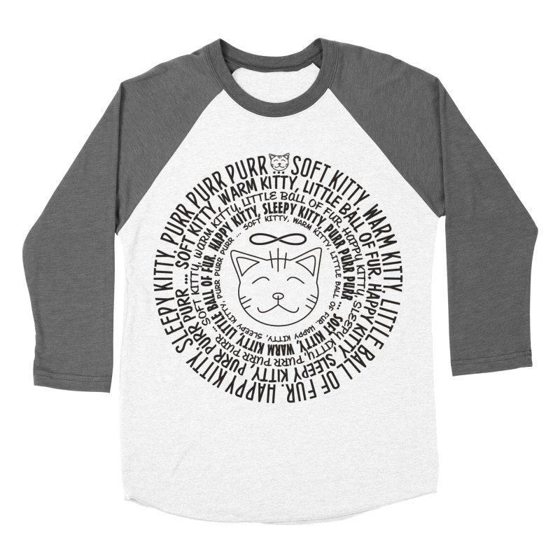 Theoretical Physics Nerd - Soft Kitty Song - black Men's Baseball Triblend Longsleeve T-Shirt by EDDArts Shop