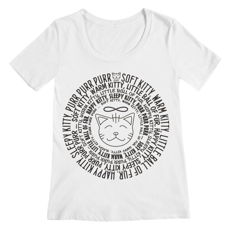 Theoretical Physics Nerd - Soft Kitty Song - black Women's Regular Scoop Neck by EDDArts Shop