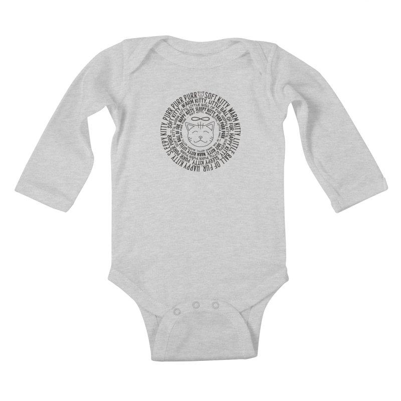 Theoretical Physics Nerd - Soft Kitty Song - black Kids Baby Longsleeve Bodysuit by EDDArts Shop
