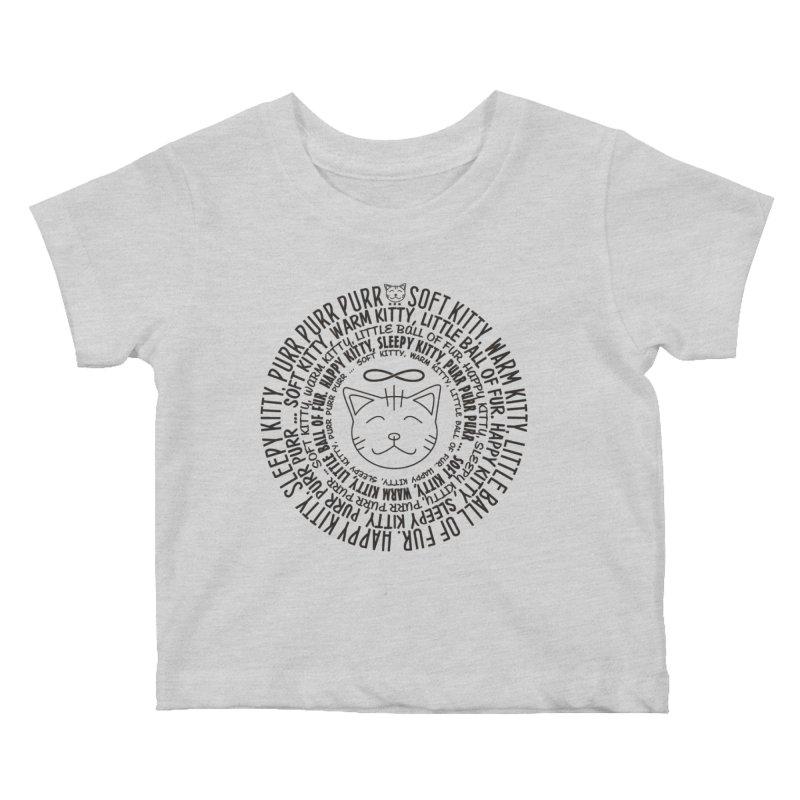 Theoretical Physics Nerd - Soft Kitty Song - black Kids Baby T-Shirt by EDDArts Shop