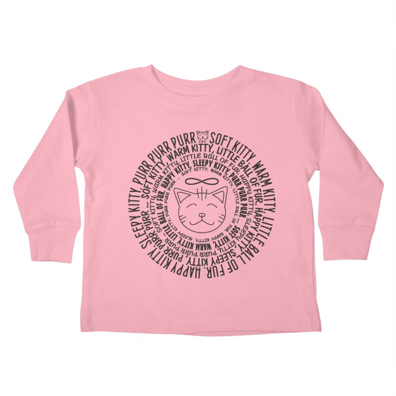 Theoretical Physics Nerd - Soft Kitty Song - black Kids Toddler Longsleeve T-Shirt by EDDArts Shop