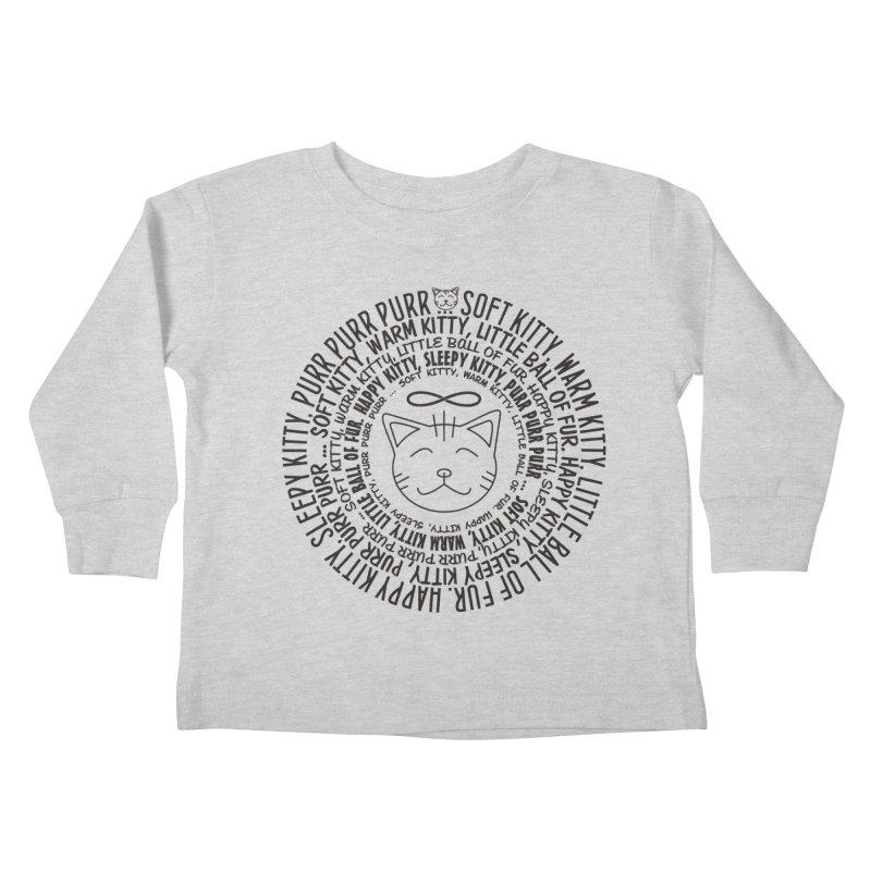 Theoretical Physics Nerd - Soft Kitty Song - black Kids Toddler Longsleeve T-Shirt by EDDArts Shop