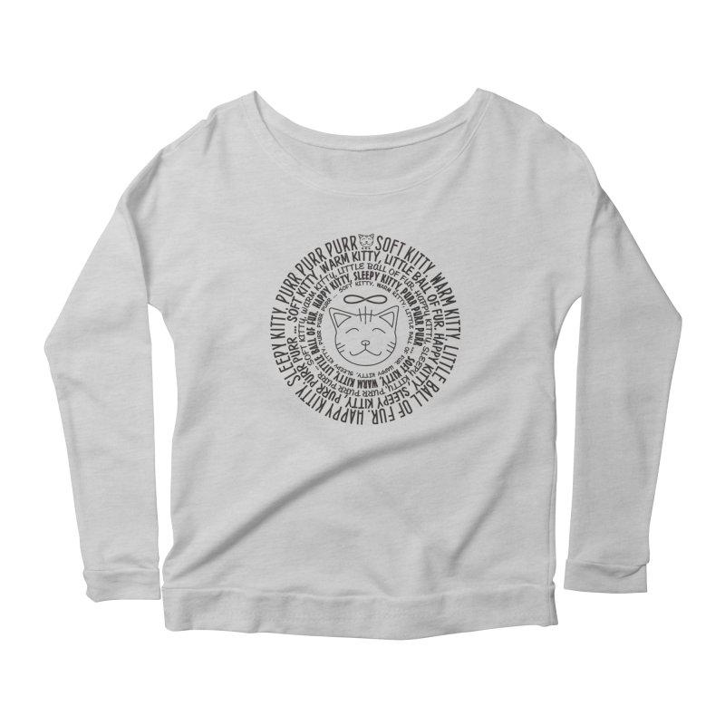 Theoretical Physics Nerd - Soft Kitty Song - black Women's Scoop Neck Longsleeve T-Shirt by EDDArts Shop