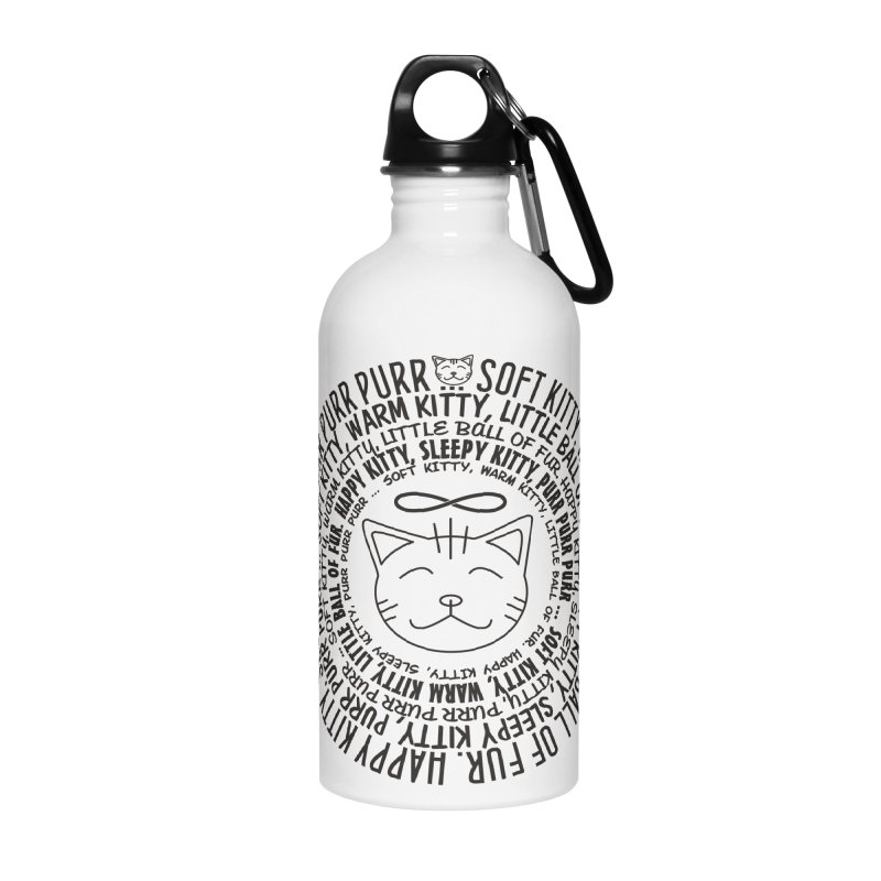 Theoretical Physics Nerd - Soft Kitty Song - black Accessories Water Bottle by EDDArts Shop