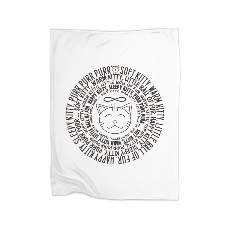 Theoretical Physics Nerd - Soft Kitty Song - black Home Blanket by EDDArts Shop