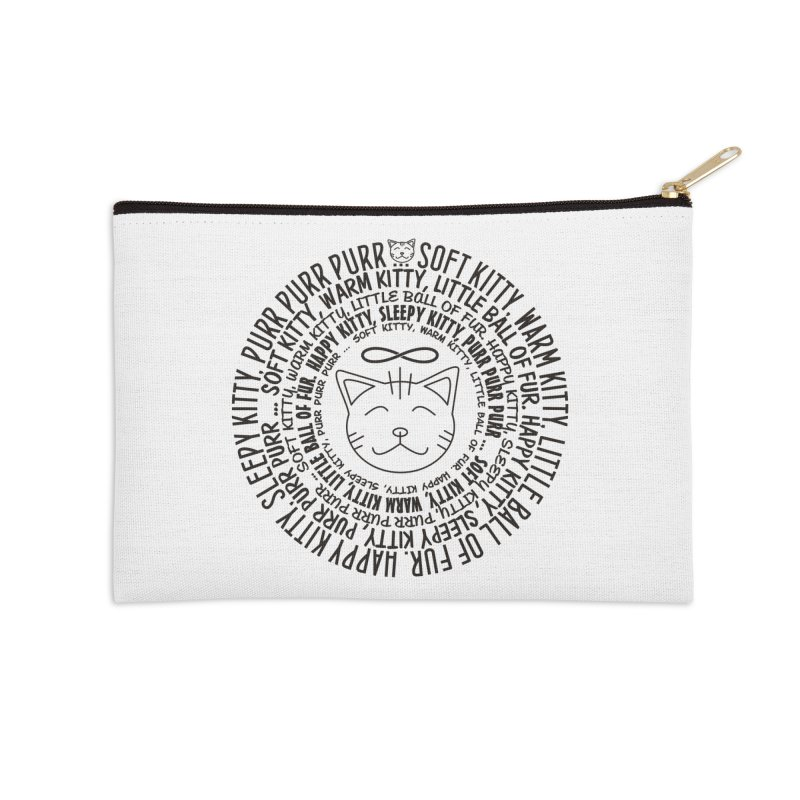Theoretical Physics Nerd - Soft Kitty Song - black Accessories Zip Pouch by EDDArts Shop