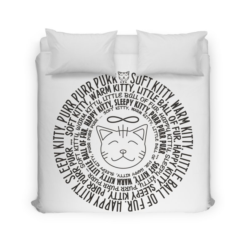 Theoretical Physics Nerd - Soft Kitty Song - black Home Duvet by EDDArts Shop