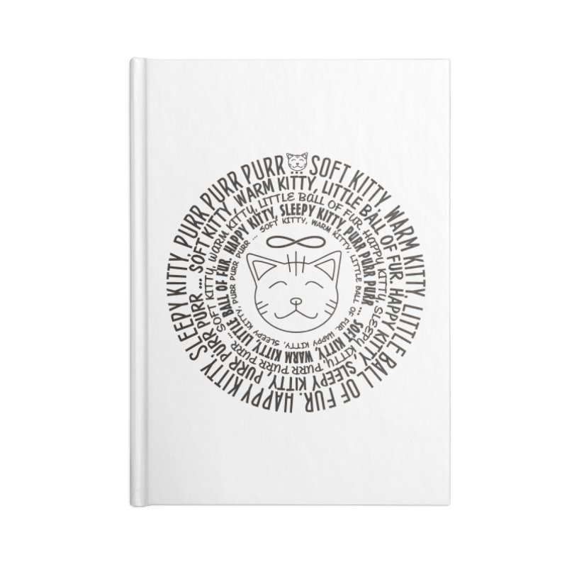 Theoretical Physics Nerd - Soft Kitty Song - black Accessories Blank Journal Notebook by EDDArts Shop