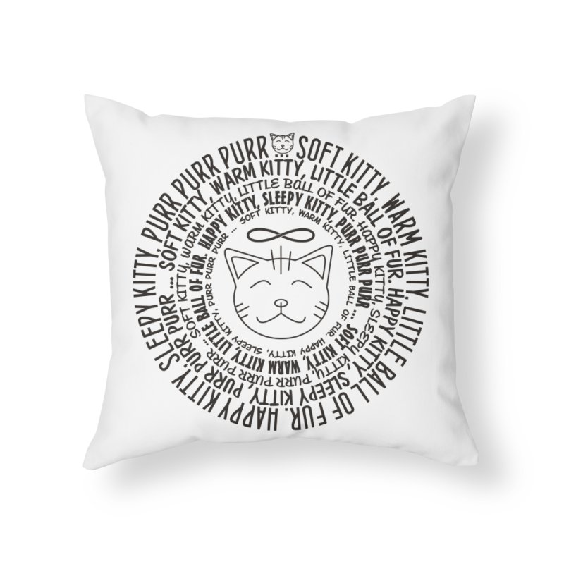 Theoretical Physics Nerd - Soft Kitty Song - black Home Throw Pillow by EDDArts Shop