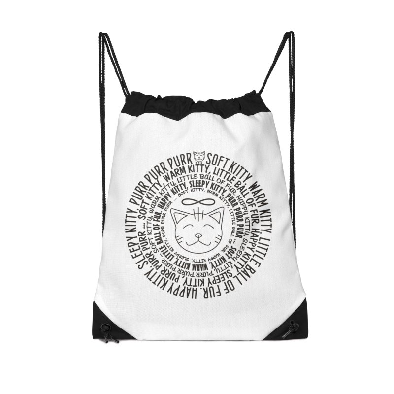 Theoretical Physics Nerd - Soft Kitty Song - black Accessories Drawstring Bag Bag by EDDArts Shop