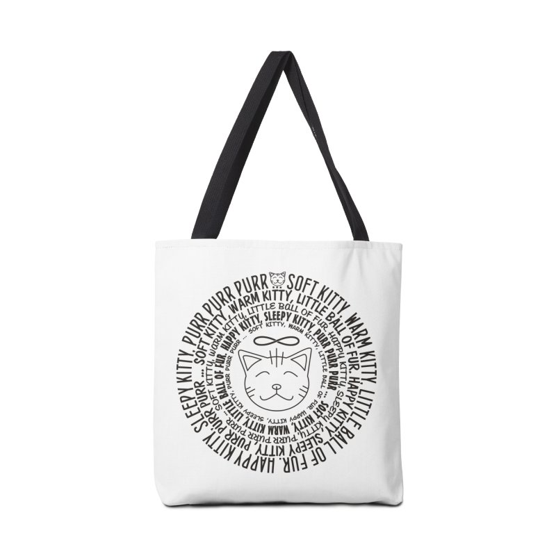 Theoretical Physics Nerd - Soft Kitty Song - black Accessories Bag by EDDArts Shop