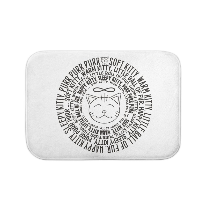 Theoretical Physics Nerd - Soft Kitty Song - black Home Bath Mat by EDDArts Shop