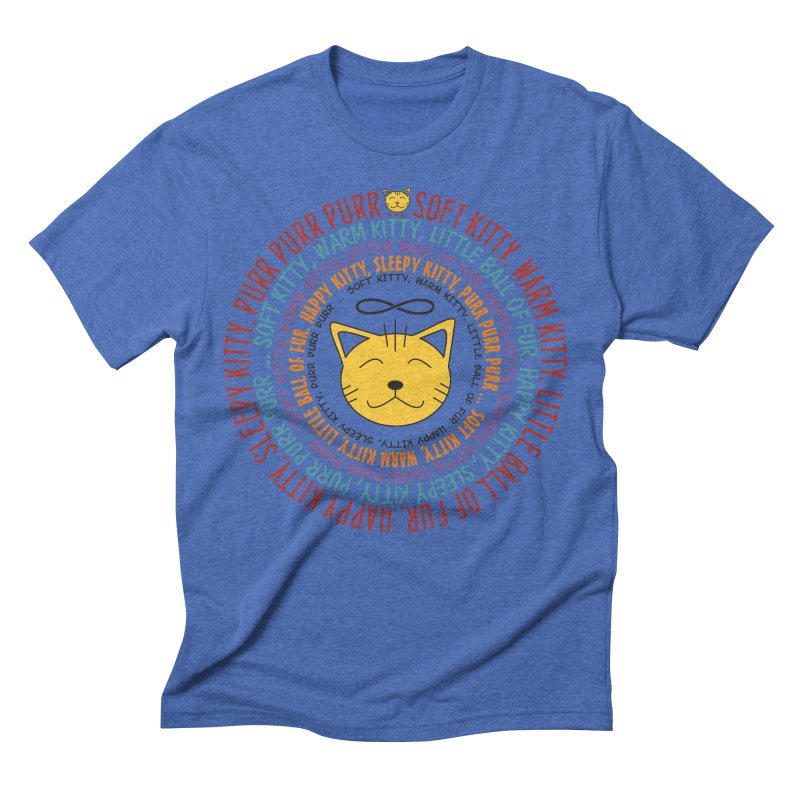 Theoretical Physics Nerd - Soft Kitty Song - colored Men's Triblend T-Shirt by EDDArts Shop