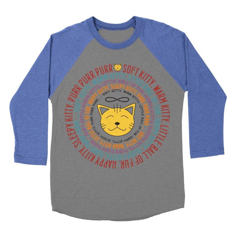 Theoretical Physics Nerd - Soft Kitty Song - colored Men's Baseball Triblend Longsleeve T-Shirt by EDDArts Shop