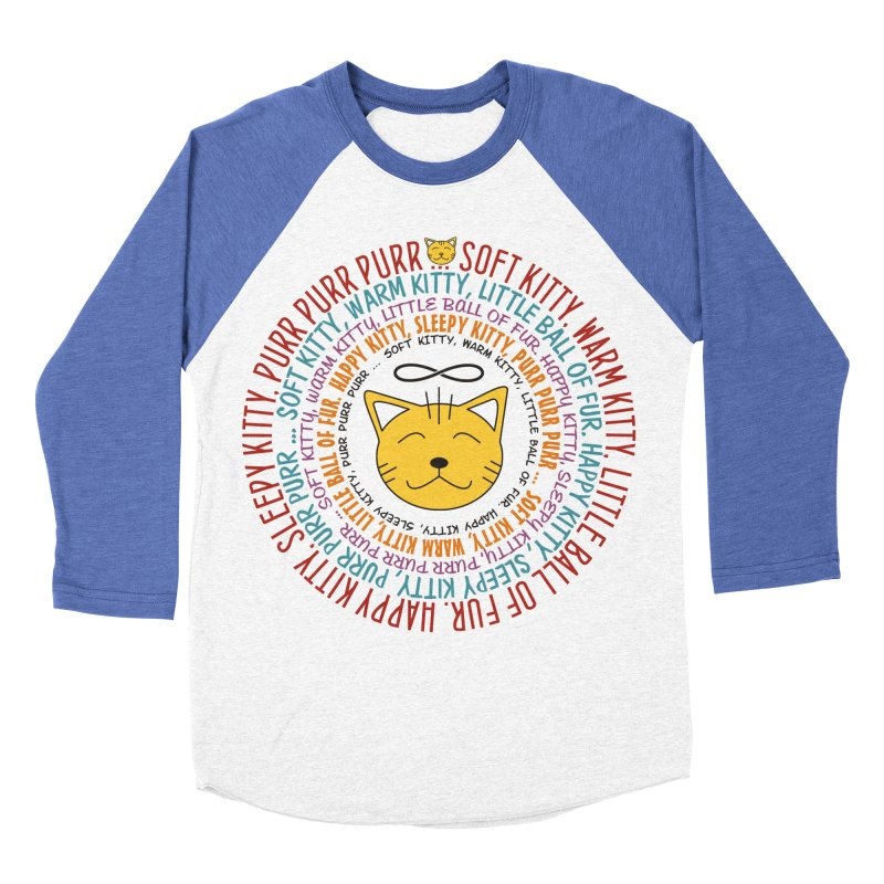 Theoretical Physics Nerd - Soft Kitty Song - colored Men's Baseball Triblend T-Shirt by EDDArts Shop
