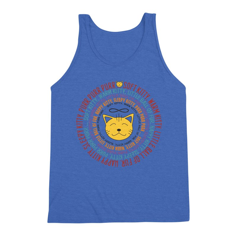 Theoretical Physics Nerd - Soft Kitty Song - colored Men's Triblend Tank by EDDArts Shop
