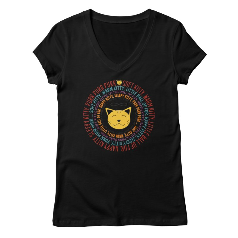 Theoretical Physics Nerd - Soft Kitty Song - colored Women's Regular V-Neck by EDDArts Shop