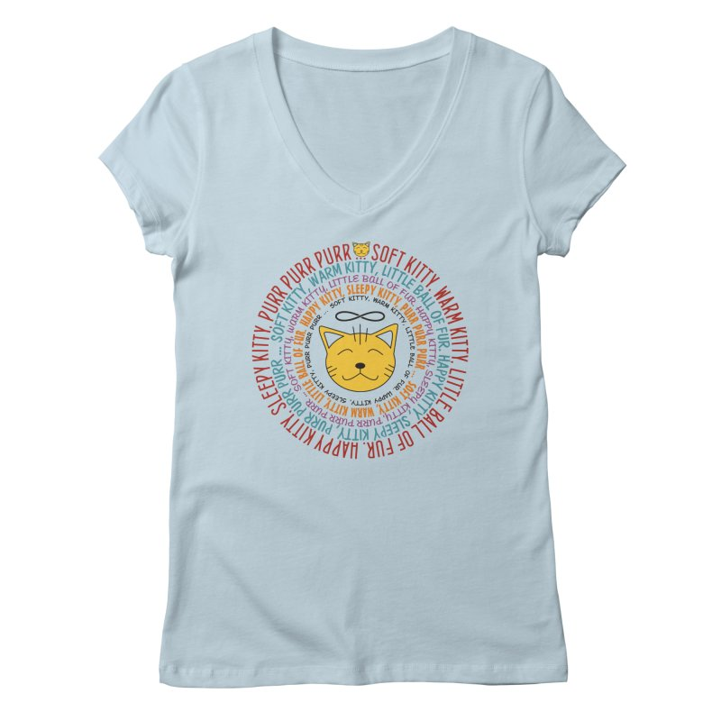 Theoretical Physics Nerd - Soft Kitty Song - colored Women's V-Neck by EDDArts Shop