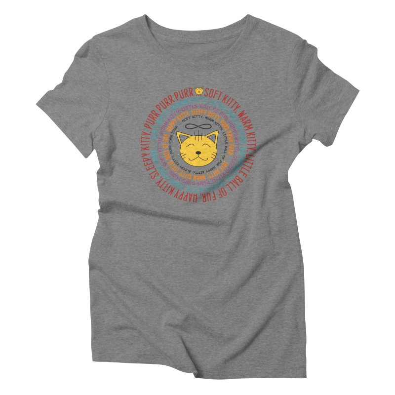 Theoretical Physics Nerd - Soft Kitty Song - colored Women's Triblend T-Shirt by EDDArts Shop
