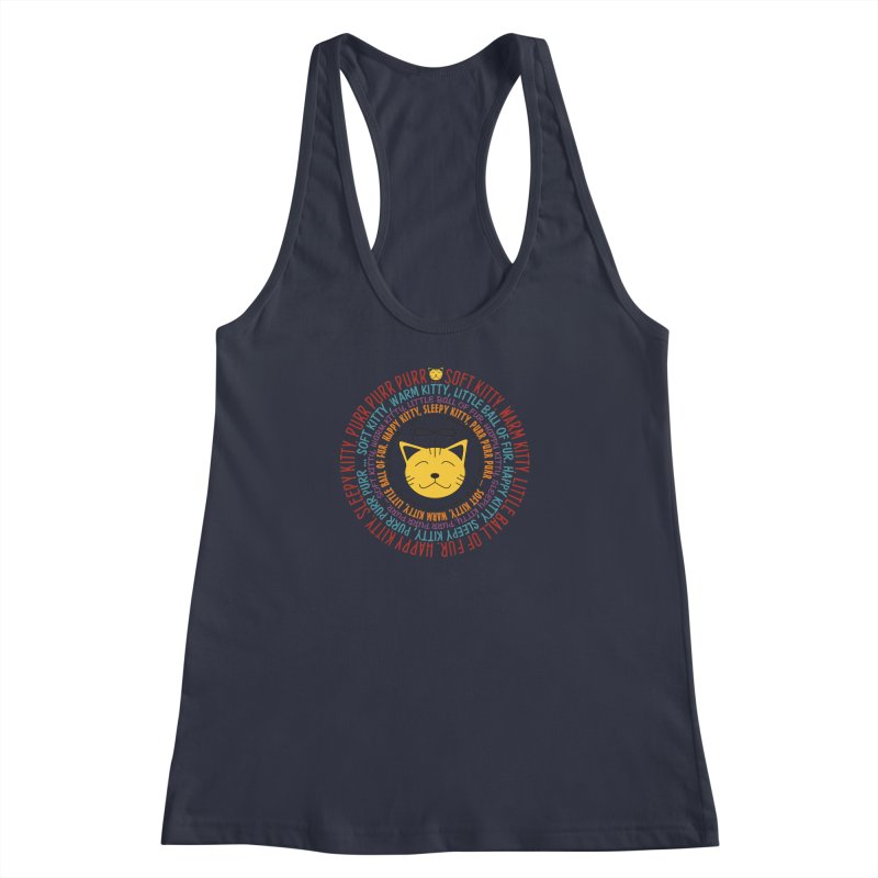 Theoretical Physics Nerd - Soft Kitty Song - colored Women's Racerback Tank by EDDArts Shop