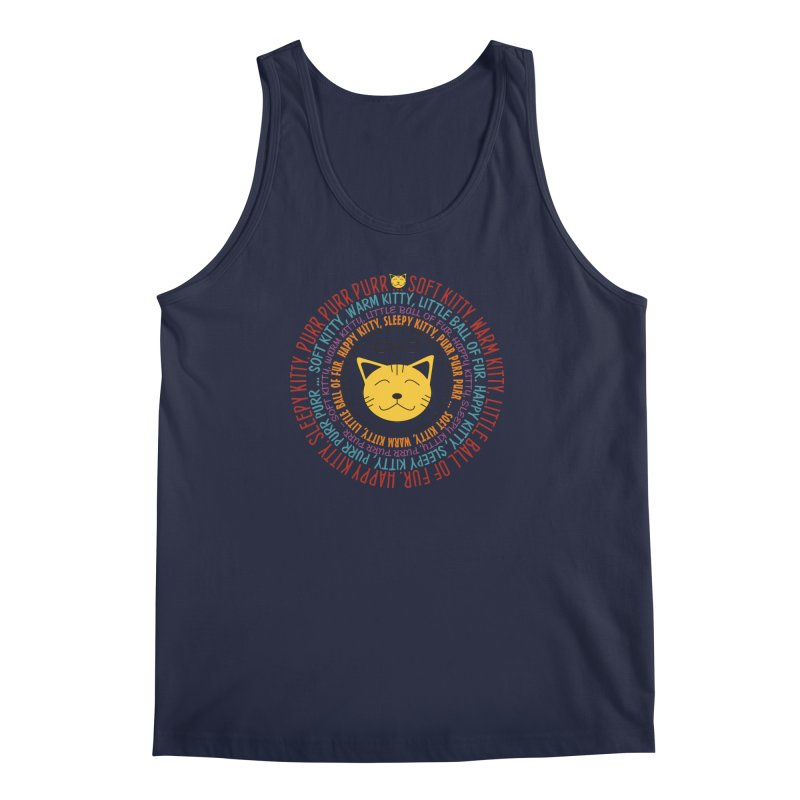 Theoretical Physics Nerd - Soft Kitty Song - colored Men's Regular Tank by EDDArts Shop