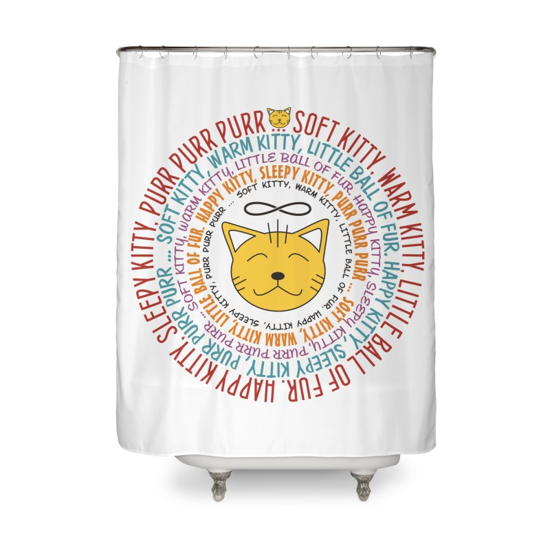 Theoretical Physics Nerd - Soft Kitty Song - colored Home Shower Curtain by EDDArts Shop