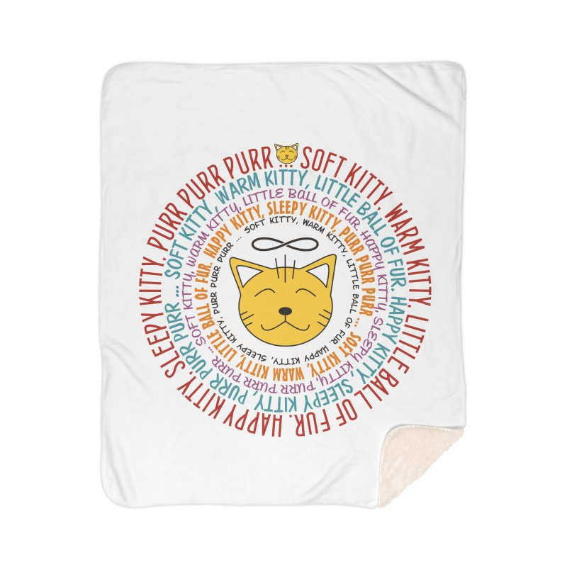 Theoretical Physics Nerd - Soft Kitty Song - colored Home Sherpa Blanket Blanket by EDDArts Shop