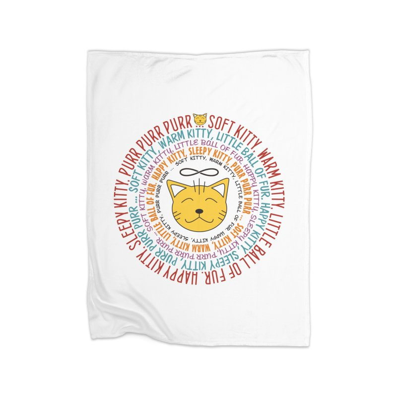 Theoretical Physics Nerd - Soft Kitty Song - colored Home Fleece Blanket Blanket by EDDArts Shop