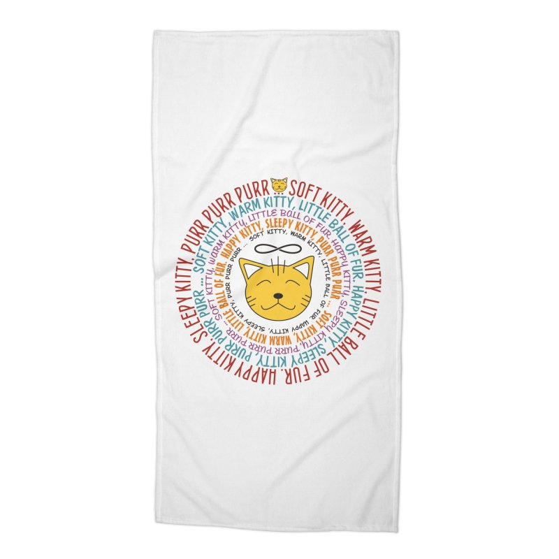 Theoretical Physics Nerd - Soft Kitty Song - colored Accessories Beach Towel by EDDArts Shop