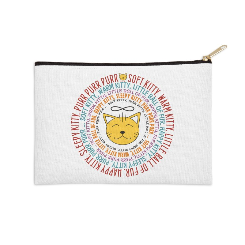 Theoretical Physics Nerd - Soft Kitty Song - colored Accessories Zip Pouch by EDDArts Shop