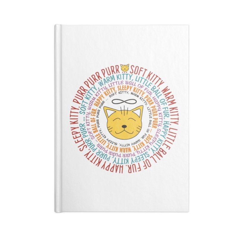 Theoretical Physics Nerd - Soft Kitty Song - colored Accessories Blank Journal Notebook by EDDArts Shop