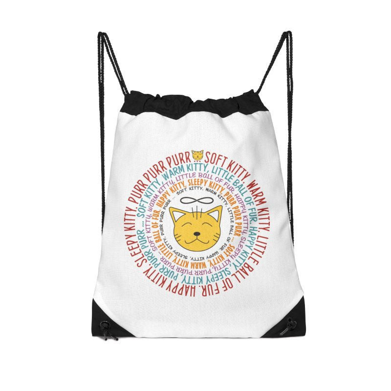 Theoretical Physics Nerd - Soft Kitty Song - colored Accessories Drawstring Bag Bag by EDDArts Shop