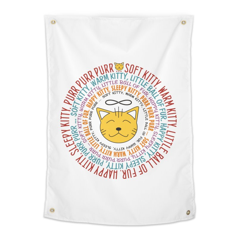 Theoretical Physics Nerd - Soft Kitty Song - colored Home Tapestry by EDDArts Shop