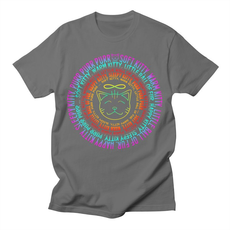 Theoretical Physics Nerd - Soft Kitty Song - neon Men's T-Shirt by EDDArts Shop