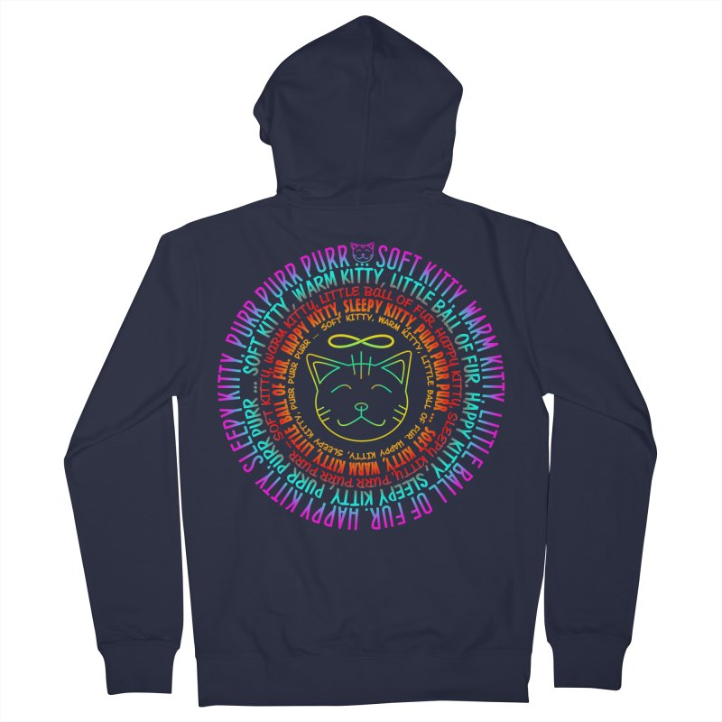 Theoretical Physics Nerd - Soft Kitty Song - neon Men's French Terry Zip-Up Hoody by EDDArts Shop