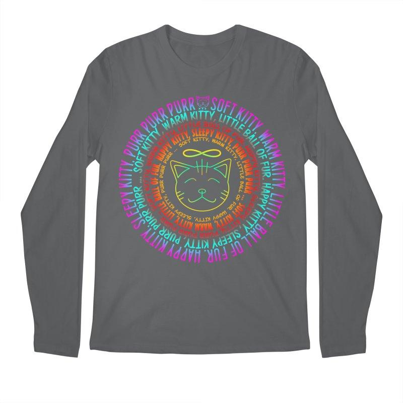 Theoretical Physics Nerd - Soft Kitty Song - neon Men's Longsleeve T-Shirt by EDDArts Shop