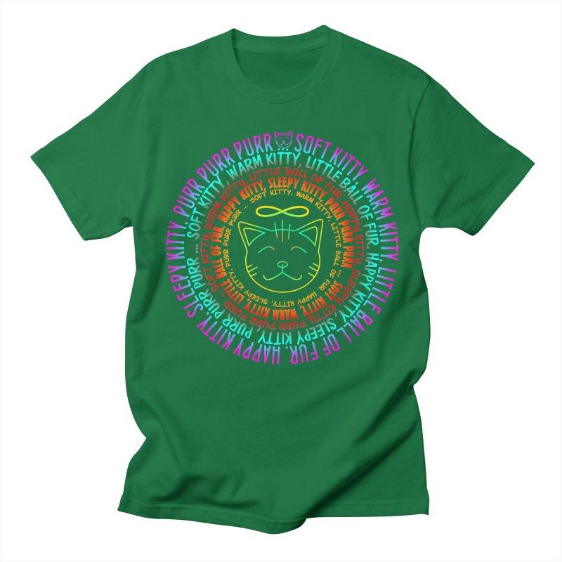 Theoretical Physics Nerd - Soft Kitty Song - neon Men's Regular T-Shirt by EDDArts Shop